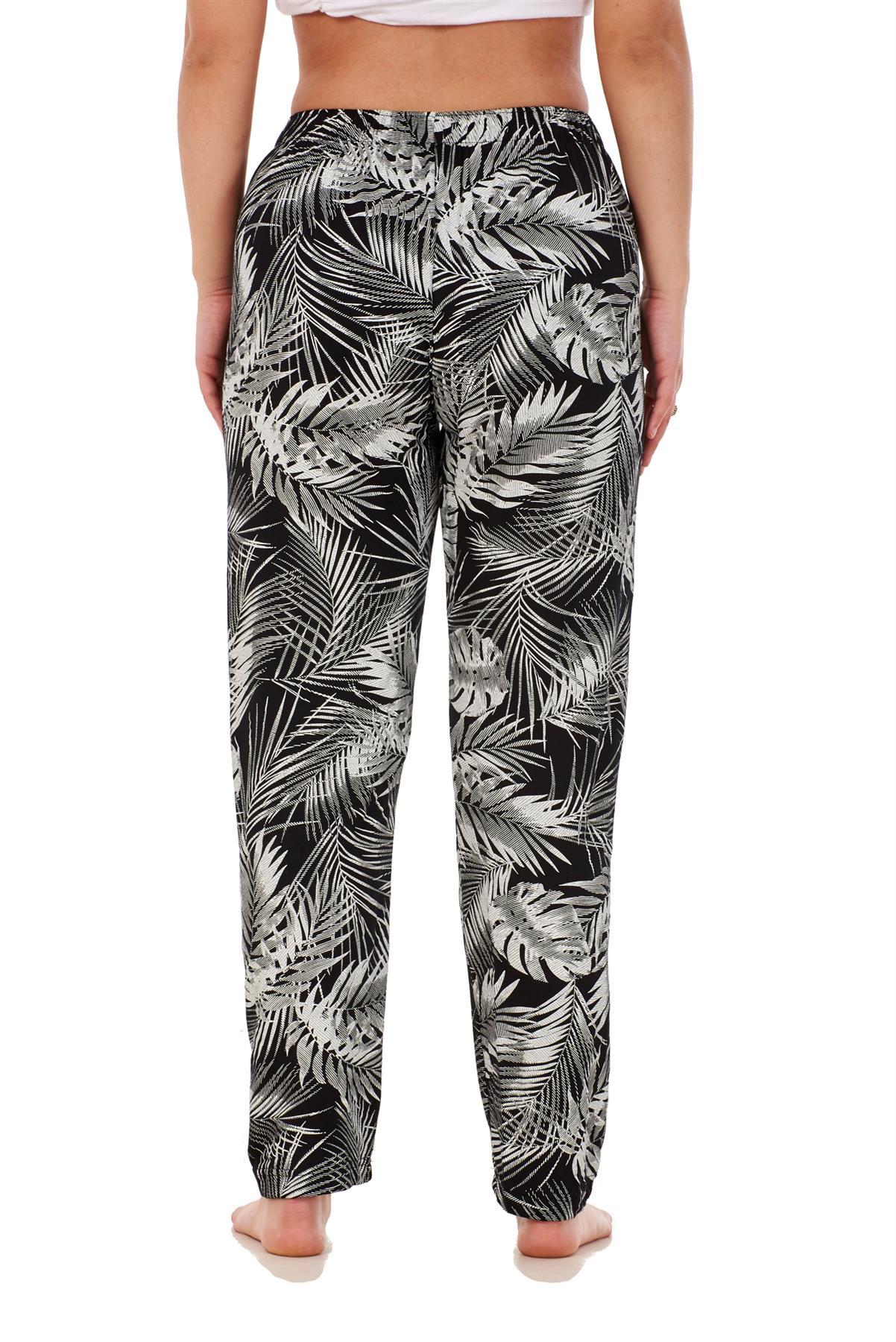 Ladies-Women-Trouser-Elasticated-Printed-Tapered-Harem-High-waist-Regular-Pants thumbnail 24