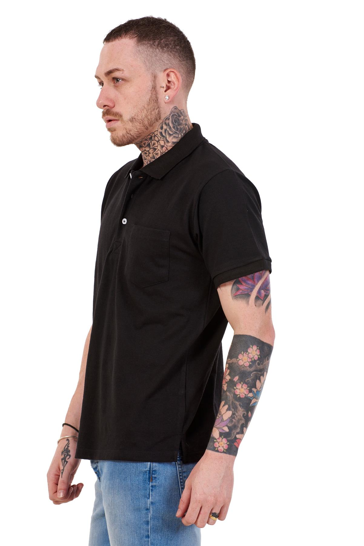 Mens-Cotton-T-Shirts-Regular-fit-Plain-Polo-Pocket-Casual-Formal-Shirt-Top-M-XXL thumbnail 4