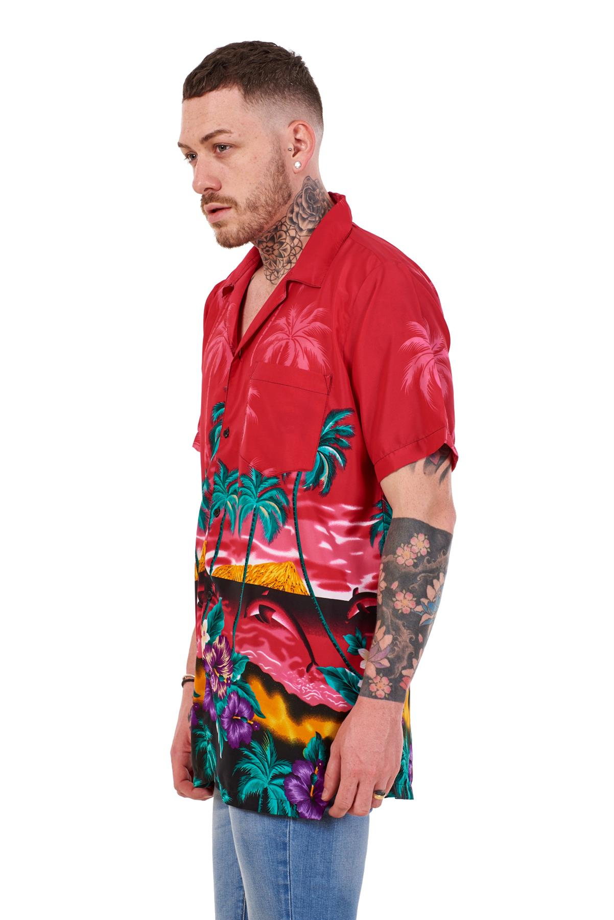 Mens-Hawaiian-Shirt-Multi-Colors-Print-Regular-Big-Size-Summer-Fancy-Dress-M-5XL thumbnail 14