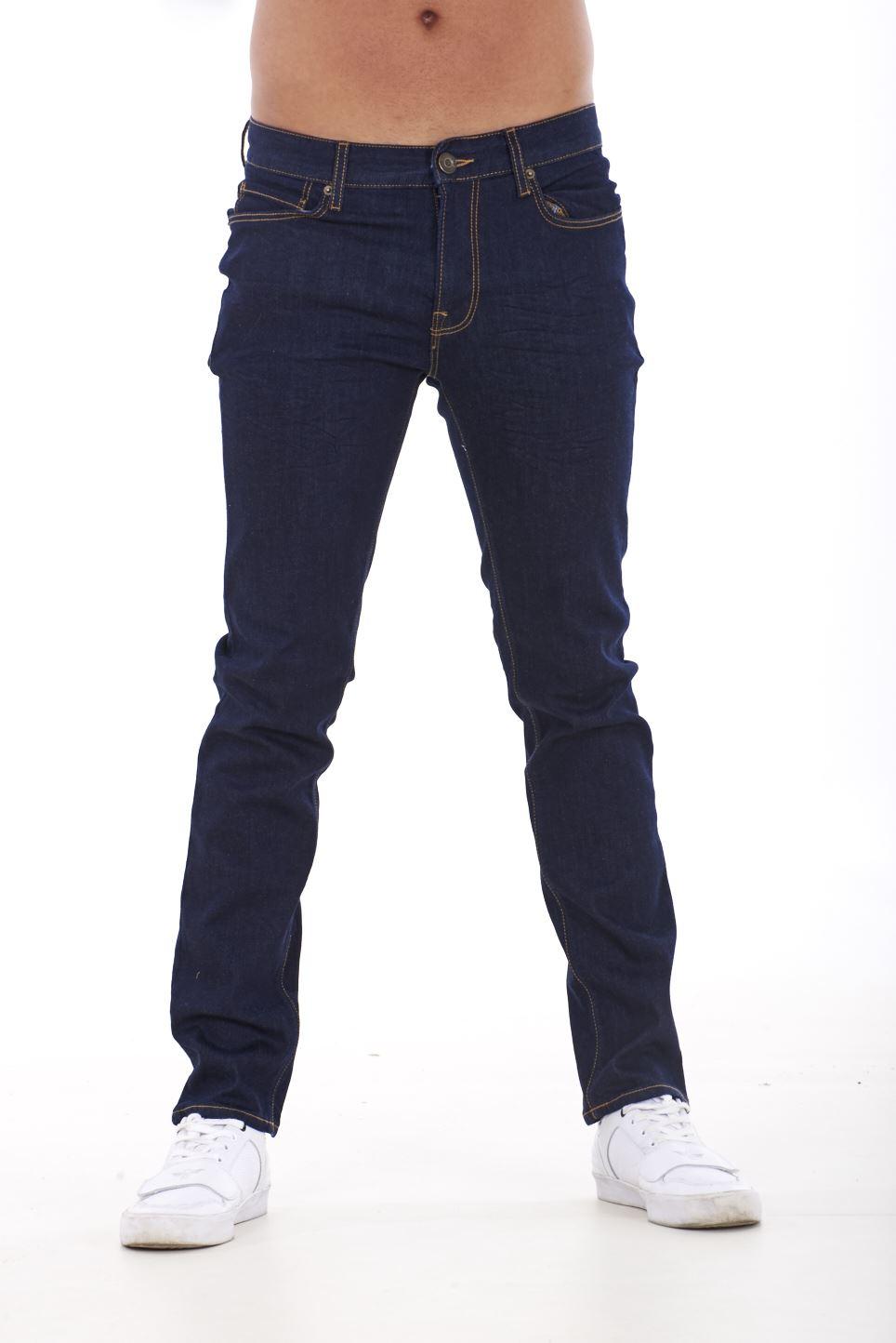 NUOVA-Linea-Uomo-Ragazzi-Slim-Fit-Stretch-Qualita-Jeans-Regolare-Pantaloni-con-marchio-SMART-30-40 miniatura 12