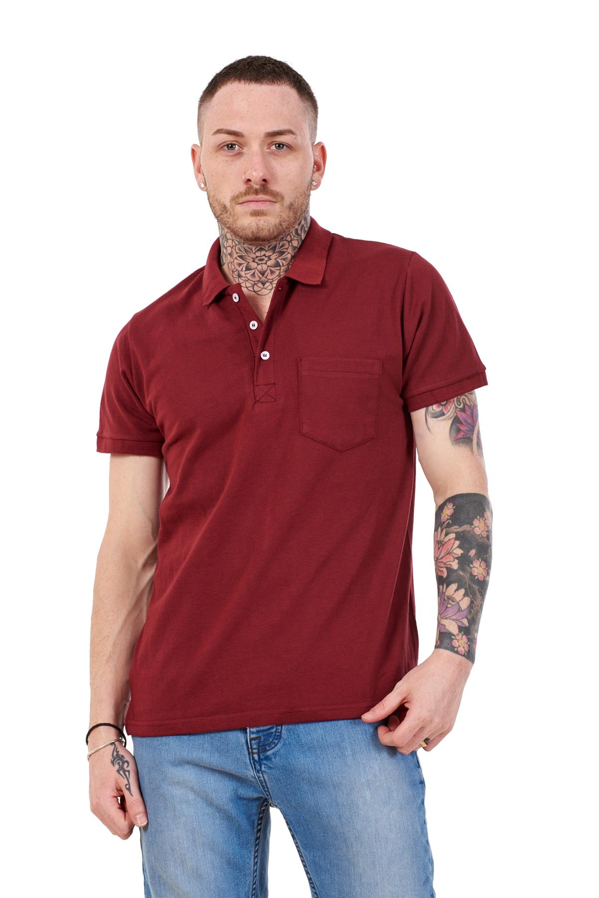 Mens-Cotton-T-Shirts-Regular-fit-Plain-Polo-Pocket-Casual-Formal-Shirt-Top-M-XXL thumbnail 7