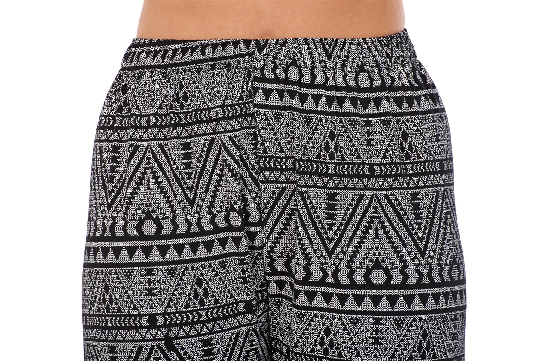 Ladies-Women-Trouser-Elasticated-Printed-Tapered-Harem-High-waist-Regular-Pants thumbnail 13