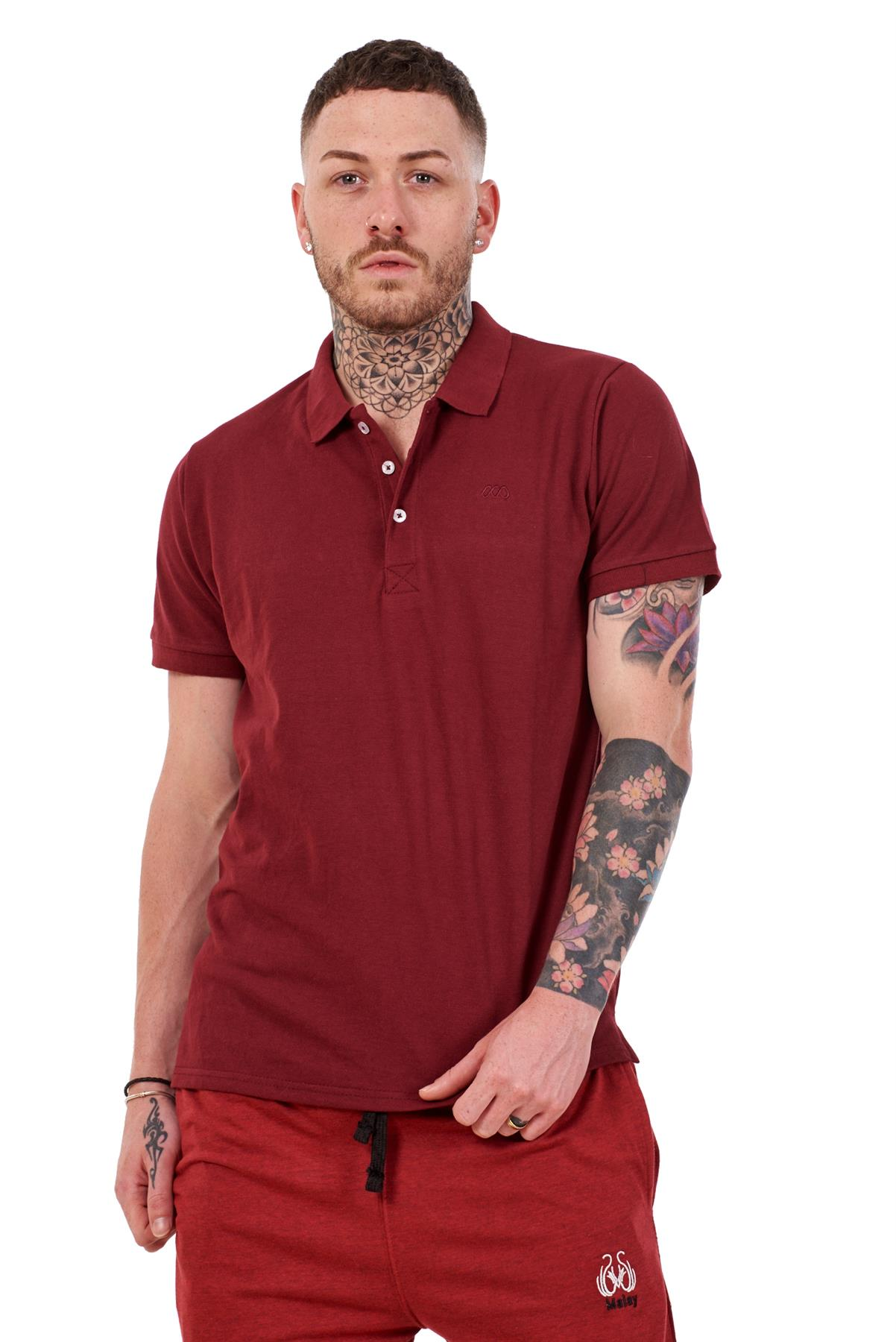 Mens-Plain-Solid-Polo-Cotton-T-Shirts-Regular-fit-Casual-Formal-Shirt-Top-M-XXL thumbnail 8