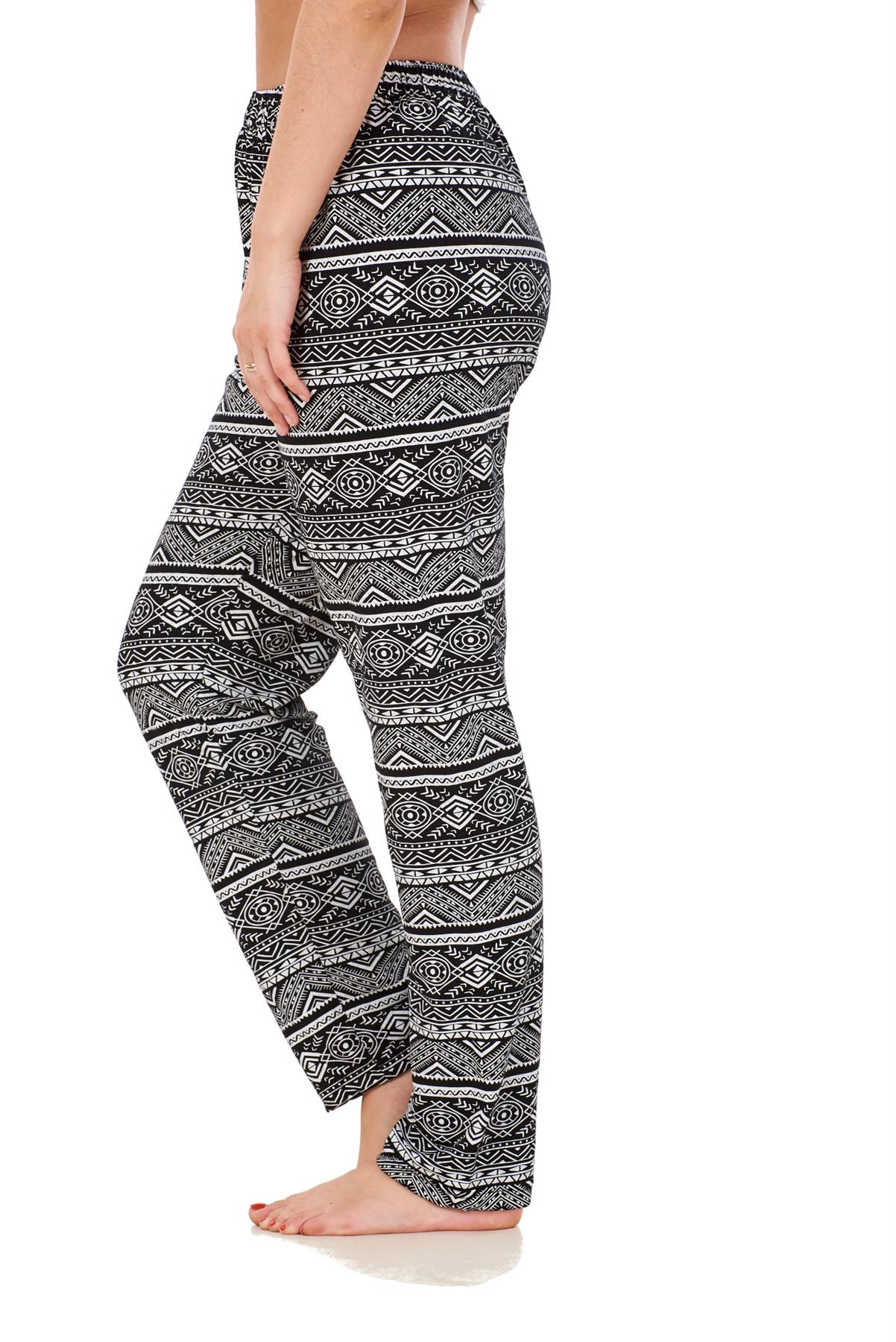 Ladies-Women-Trouser-Elasticated-Printed-Tapered-Harem-High-waist-Regular-Pants thumbnail 15