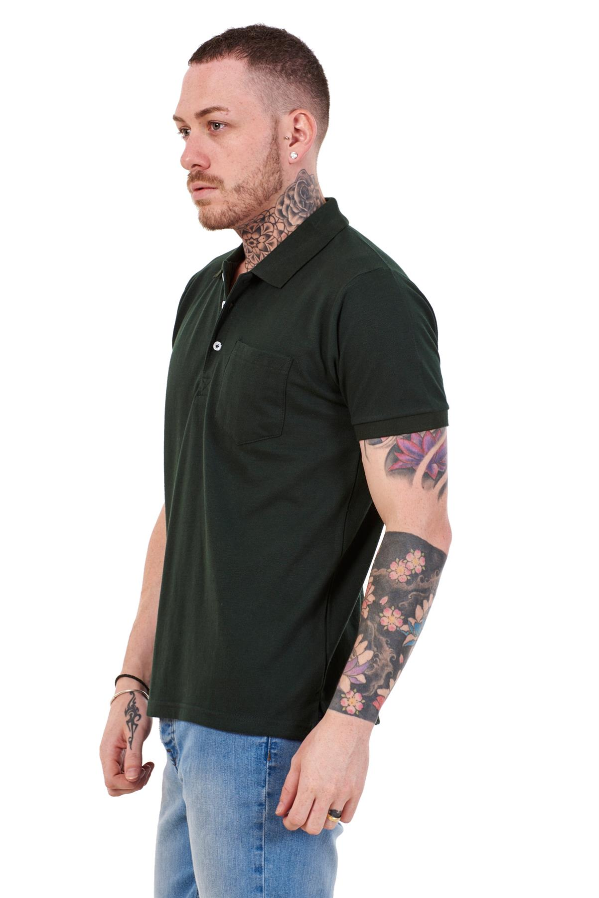 Mens-Cotton-T-Shirts-Regular-fit-Plain-Polo-Pocket-Casual-Formal-Shirt-Top-M-XXL thumbnail 16