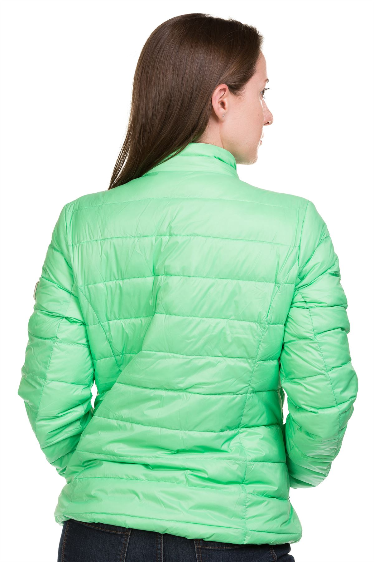 Ladies-Padded-Jacket-Down-Feather-Lining-Plain-Lightweight-Quilted-Floral-Coats thumbnail 8