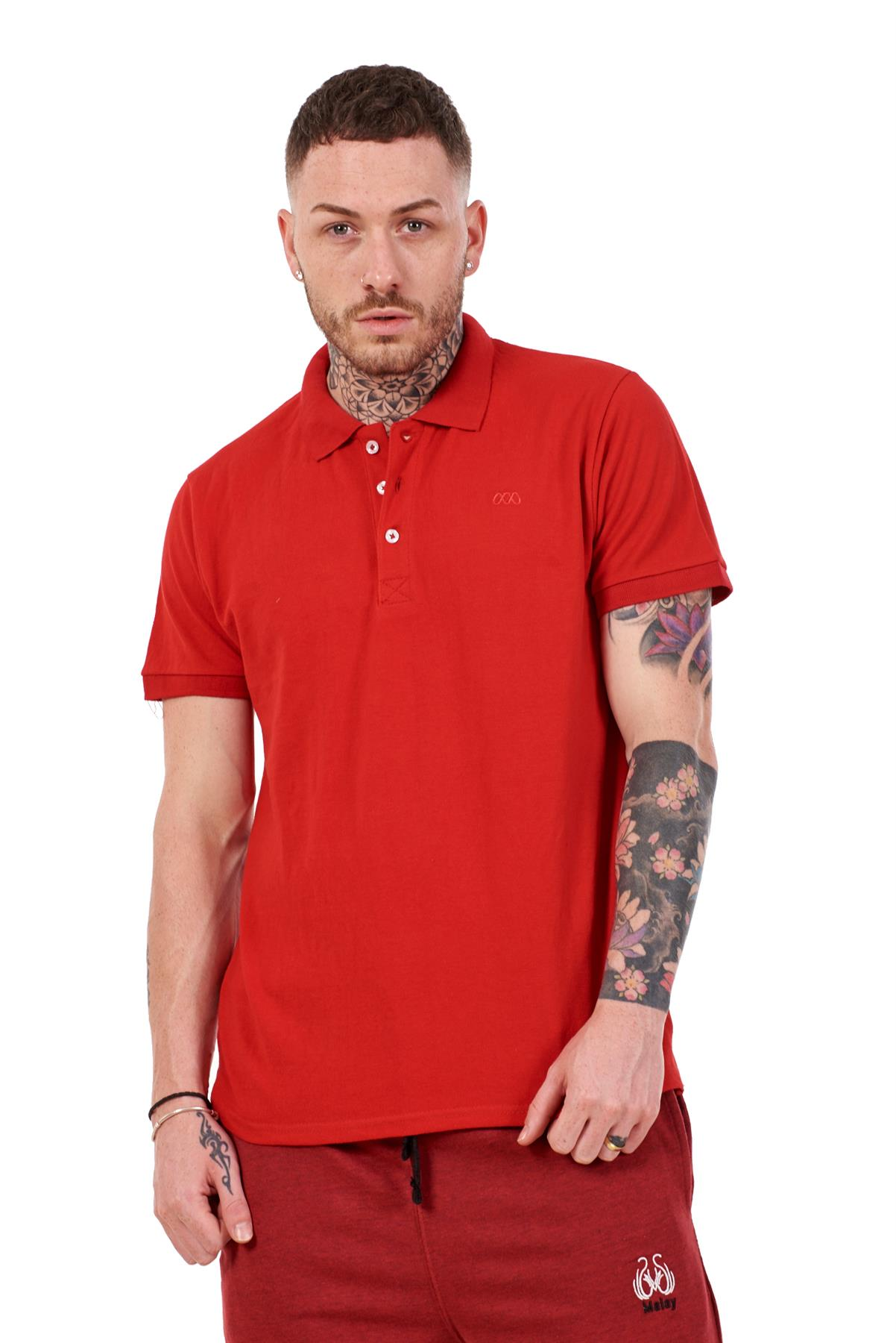 Mens-Plain-Solid-Polo-Cotton-T-Shirts-Regular-fit-Casual-Formal-Shirt-Top-M-XXL thumbnail 31