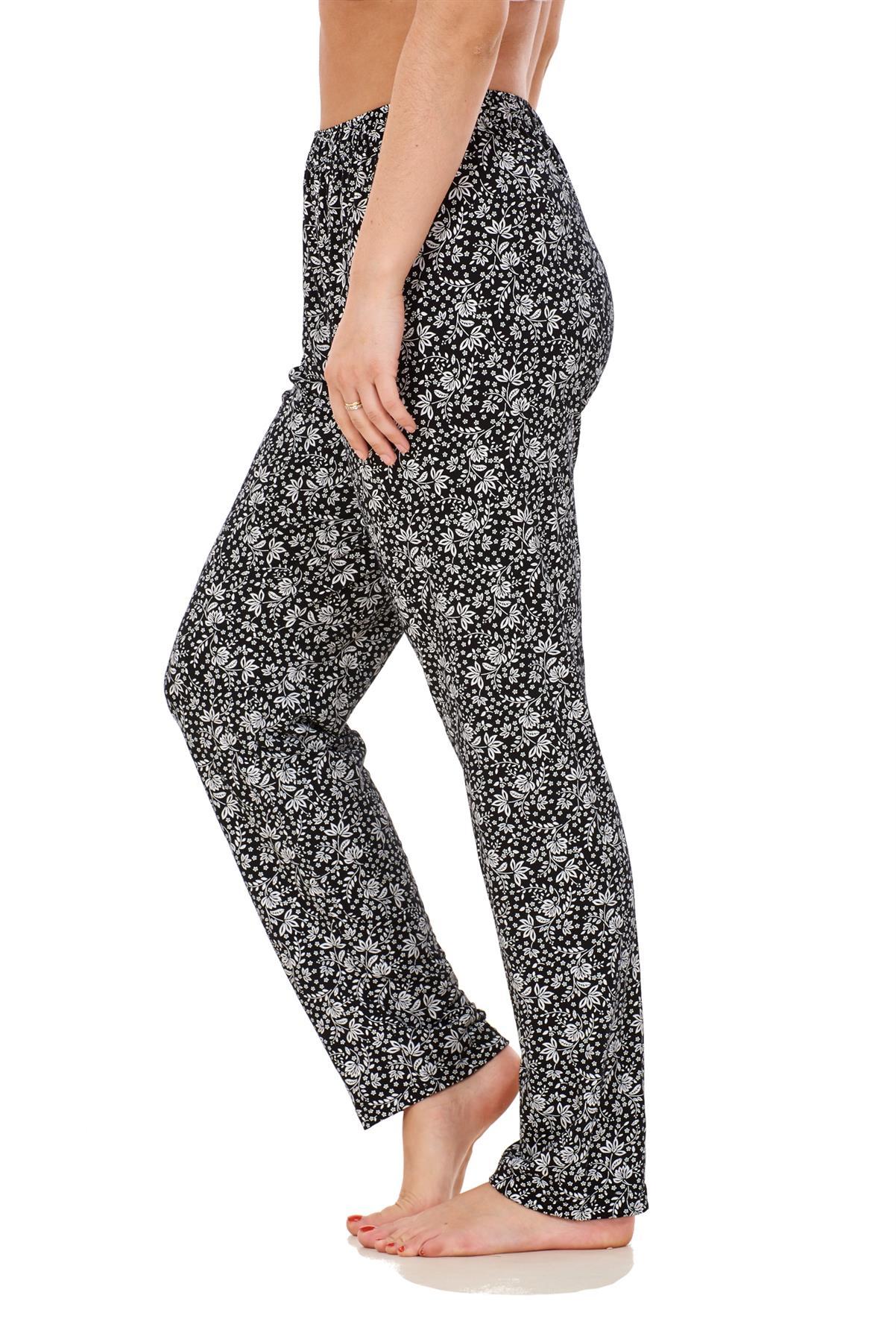 Ladies-Women-Trouser-Elasticated-Printed-Tapered-Harem-High-waist-Regular-Pants thumbnail 19