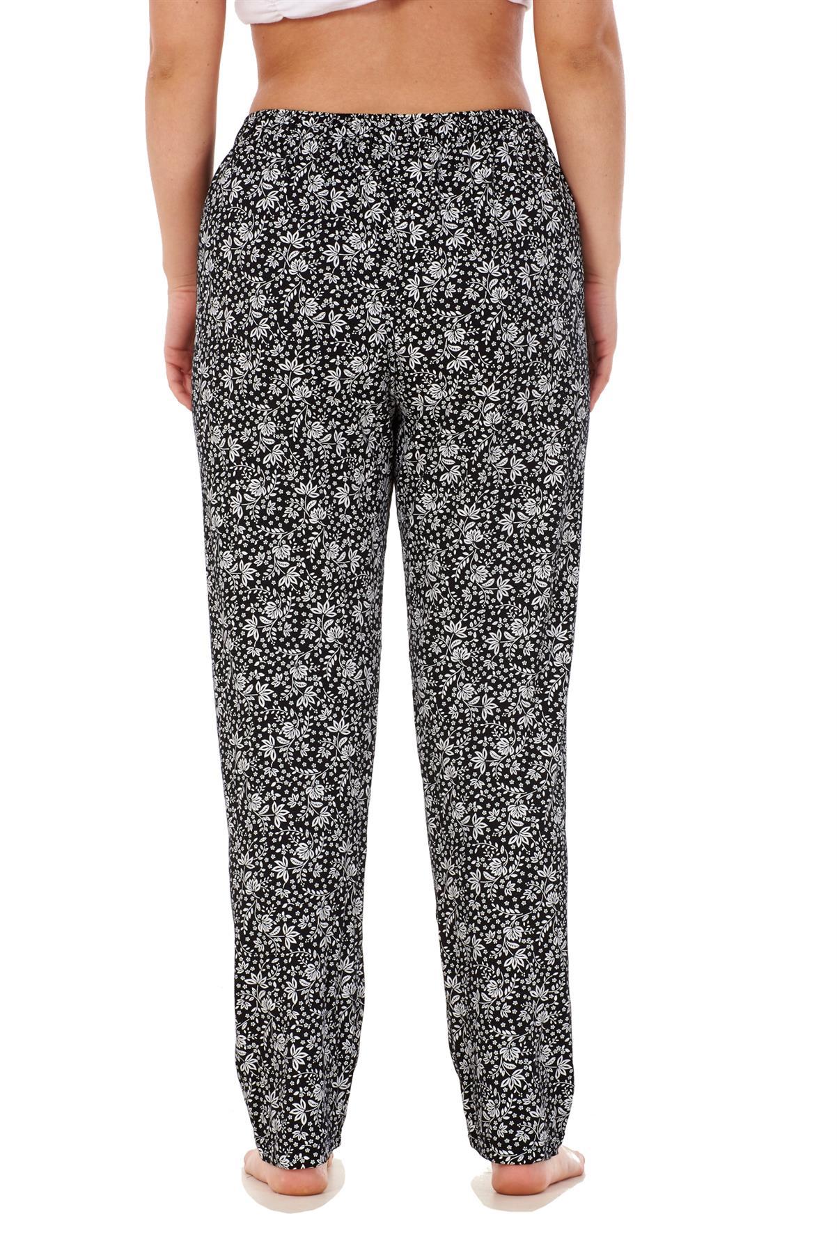 Ladies-Women-Trouser-Elasticated-Printed-Tapered-Harem-High-waist-Regular-Pants thumbnail 20
