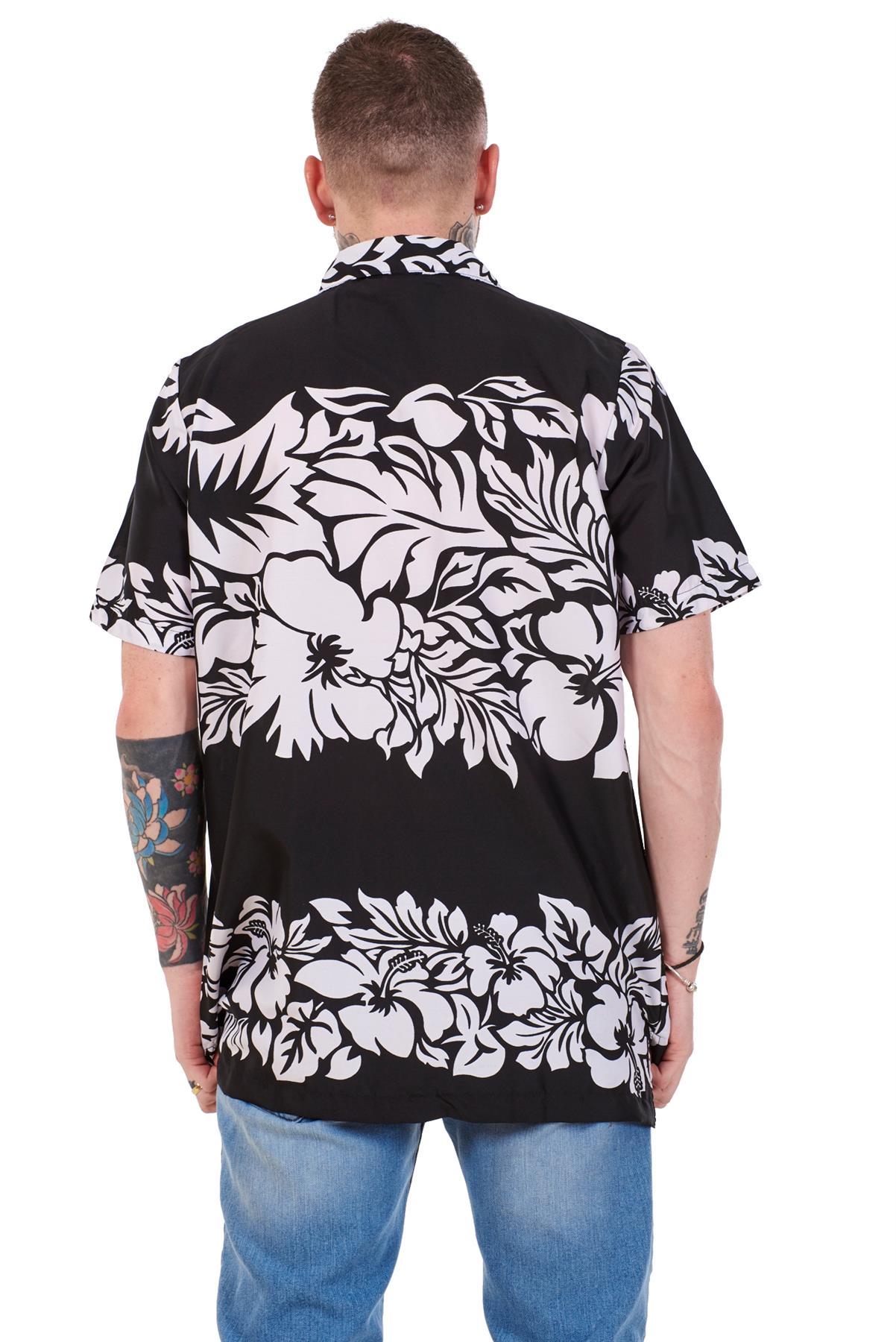 Mens-Hawaiian-Shirt-Multi-Colors-Print-Regular-Big-Size-Summer-Fancy-Dress-M-5XL thumbnail 5