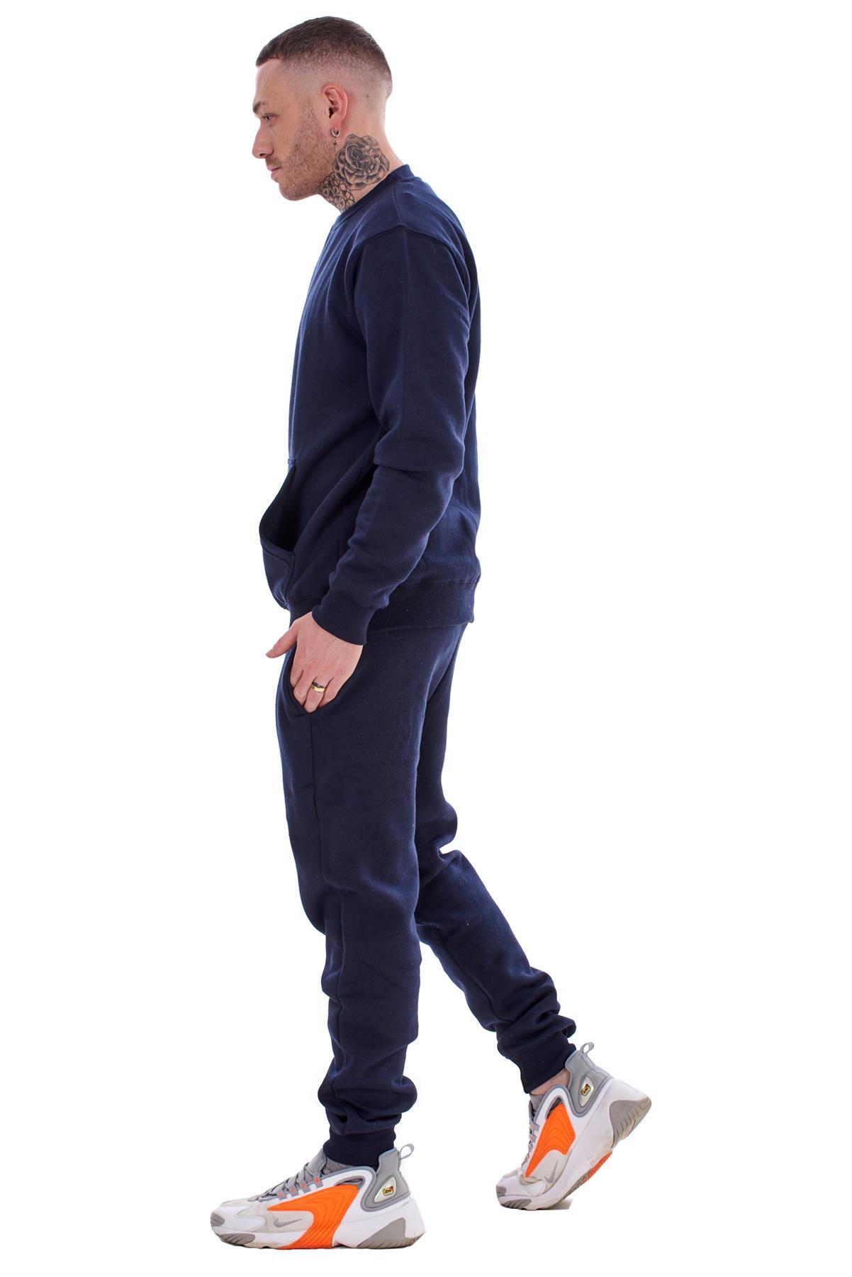 Mens-Plain-Tracksuit-Branded-Fleece-Pullover-Sweatshirts-Cotton-Jogging-Bottoms thumbnail 13