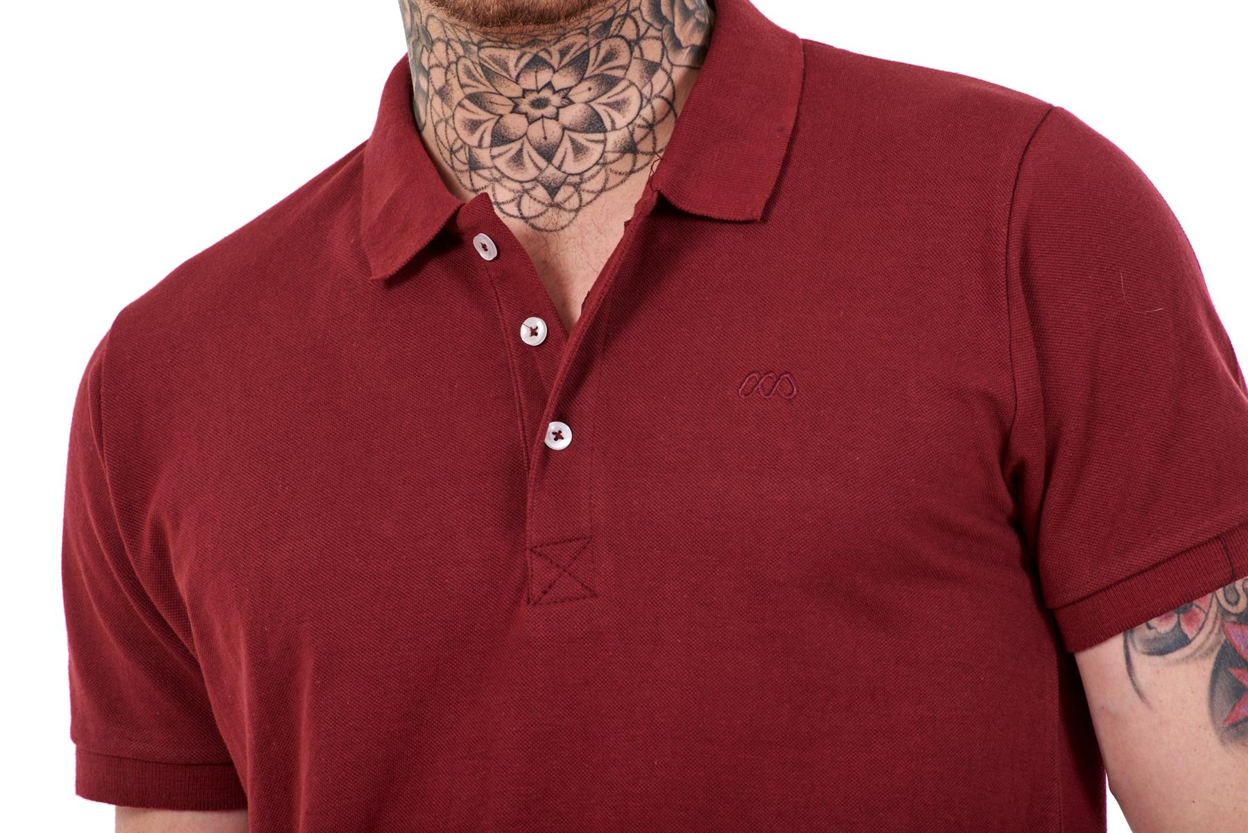 Mens-Plain-Solid-Polo-Cotton-T-Shirts-Regular-fit-Casual-Formal-Shirt-Top-M-XXL thumbnail 10
