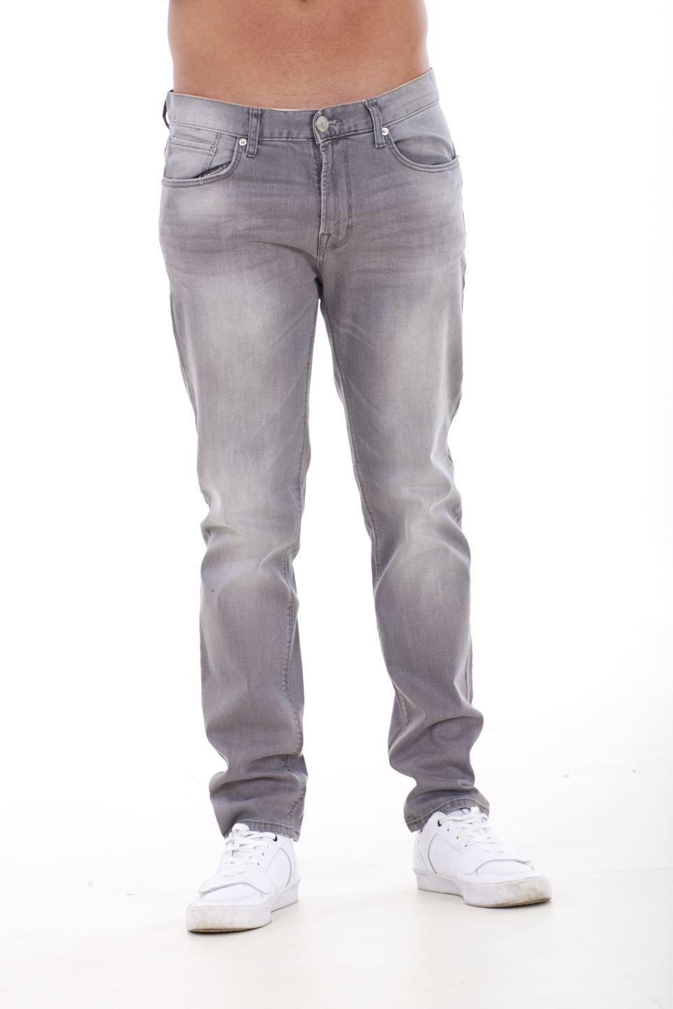 NUOVA-Linea-Uomo-Ragazzi-Slim-Fit-Stretch-Qualita-Jeans-Regolare-Pantaloni-con-marchio-SMART-30-40 miniatura 9