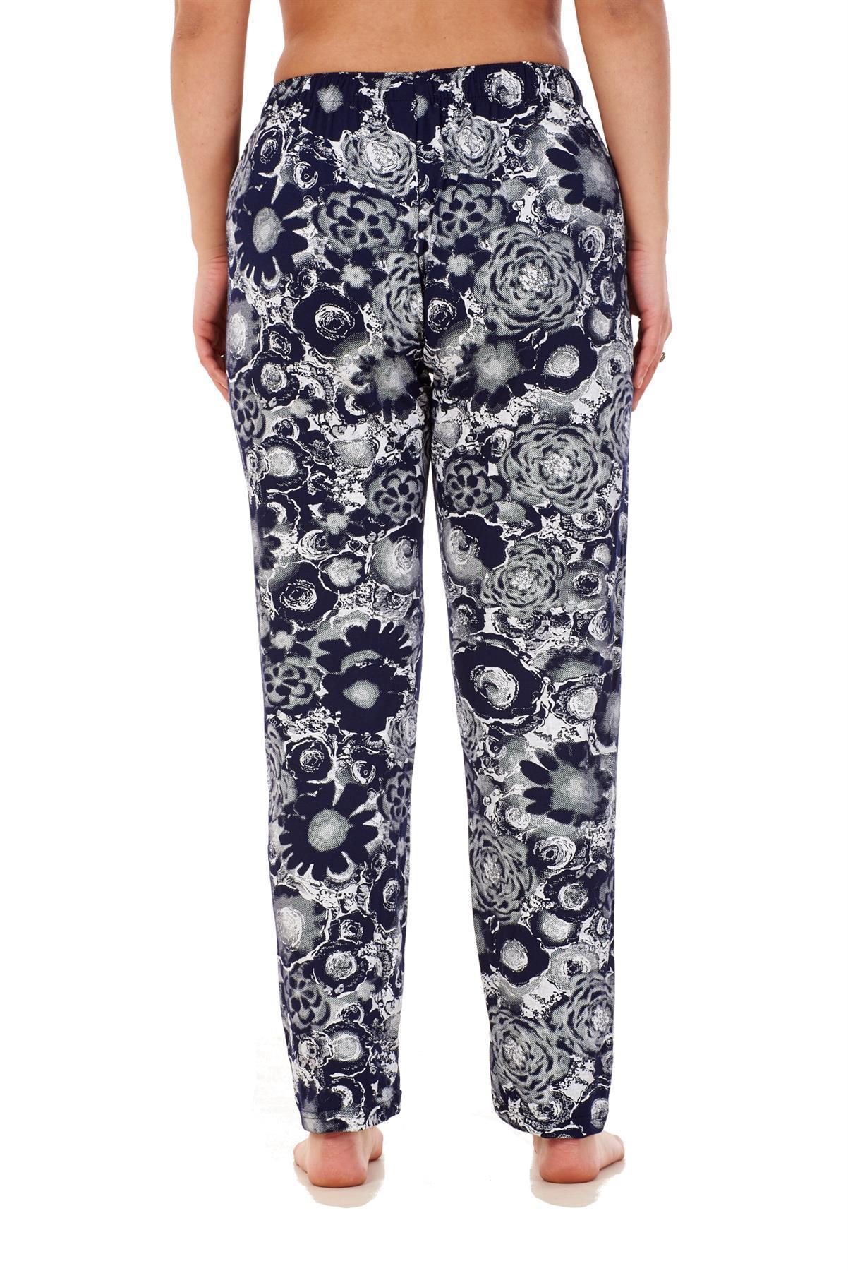 Ladies-Women-Trouser-Elasticated-Printed-Tapered-Harem-High-waist-Regular-Pants thumbnail 8