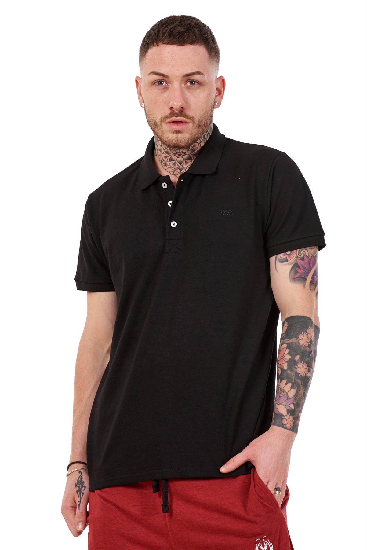 Mens-Plain-Solid-Polo-Cotton-T-Shirts-Regular-fit-Casual-Formal-Shirt-Top-M-XXL thumbnail 5