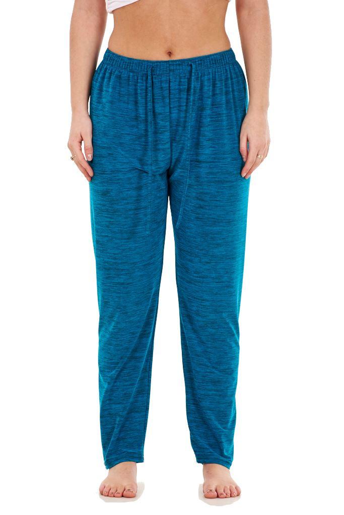 Ladies-Women-Trouser-Elasticated-Tapered-High-waist-ITY-Regular-Pants-Black thumbnail 35