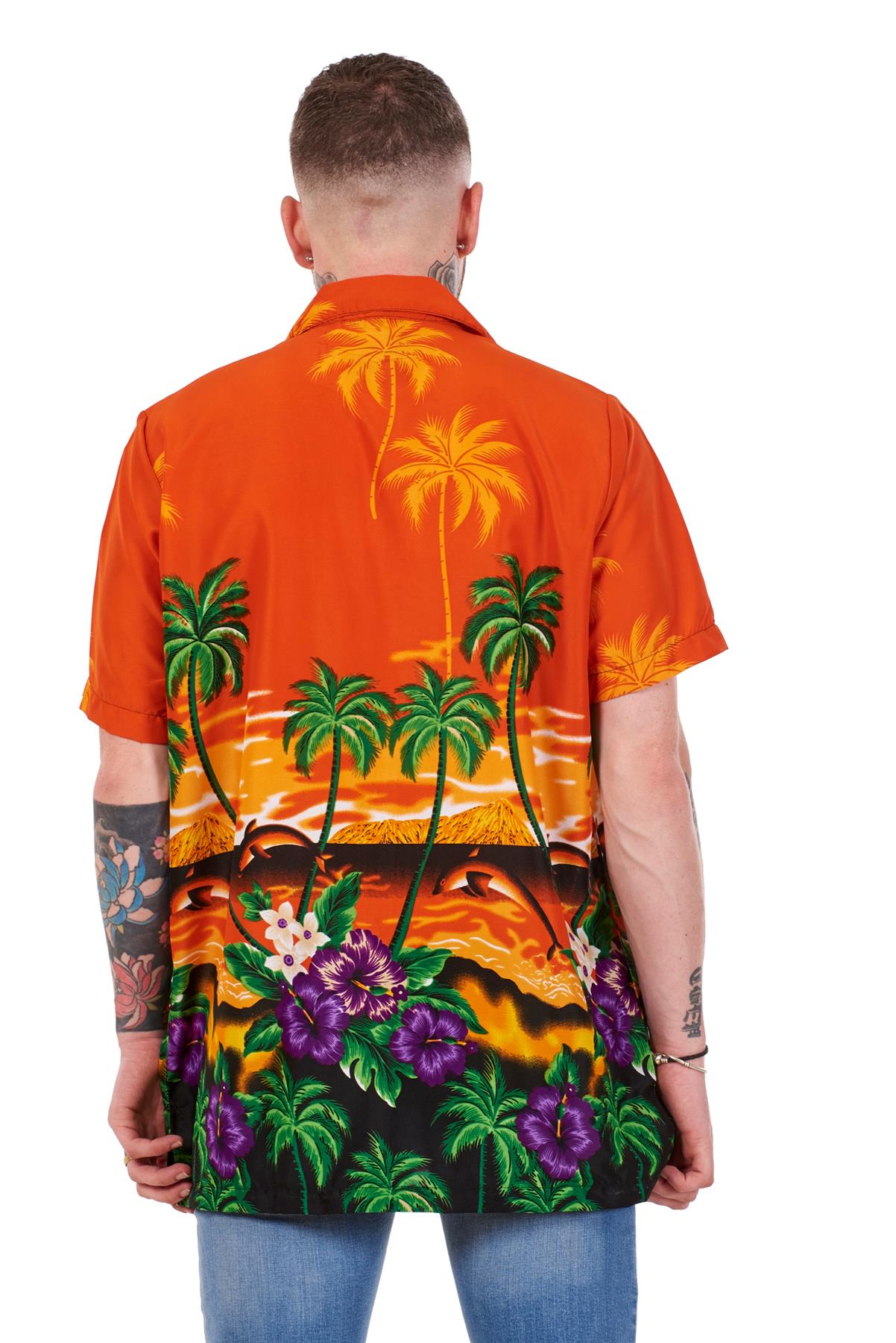 Mens-Hawaiian-Shirt-Multi-Colors-Print-Regular-Big-Size-Summer-Fancy-Dress-M-5XL thumbnail 24