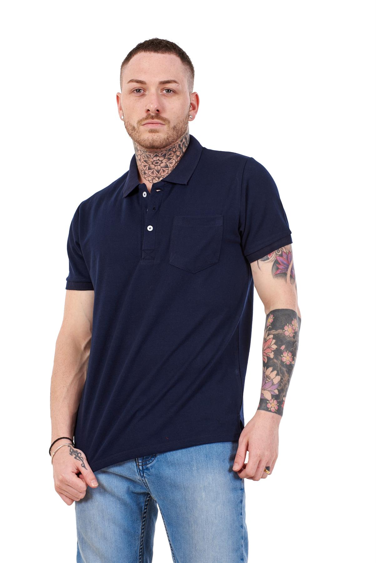 Mens-Cotton-T-Shirts-Regular-fit-Plain-Polo-Pocket-Casual-Formal-Shirt-Top-M-XXL thumbnail 20