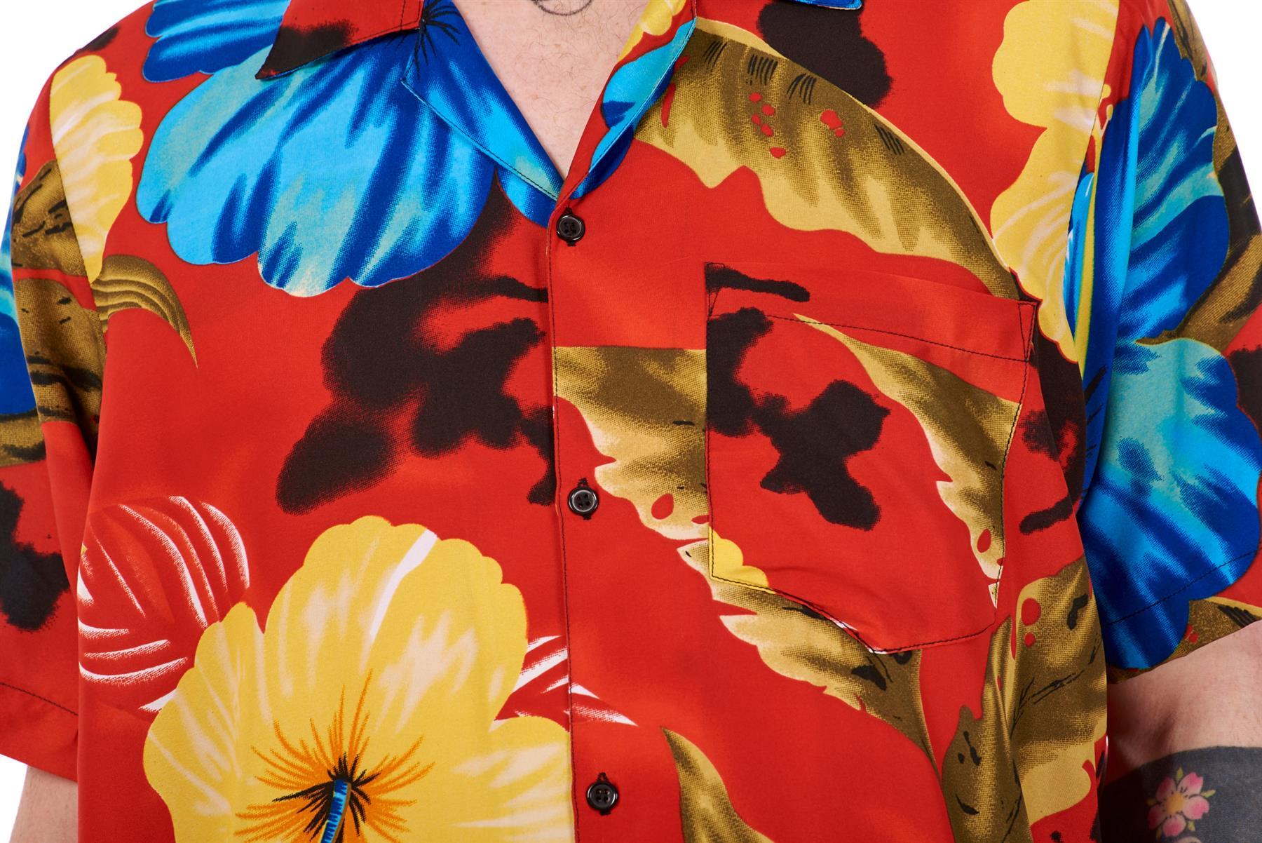 Mens-Hawaiian-Shirt-Multi-Colors-Print-Regular-Big-Size-Summer-Fancy-Dress-M-5XL thumbnail 38