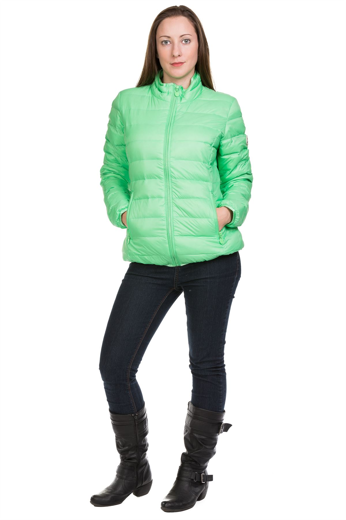 Ladies-Padded-Jacket-Down-Feather-Lining-Plain-Lightweight-Quilted-Floral-Coats thumbnail 9