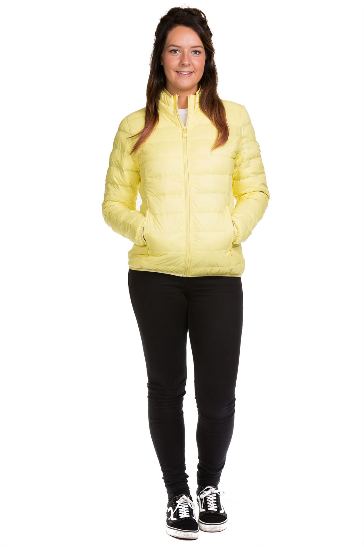 Ladies-Padded-Jacket-Down-Feather-Lining-Plain-Lightweight-Quilted-Floral-Coats thumbnail 15