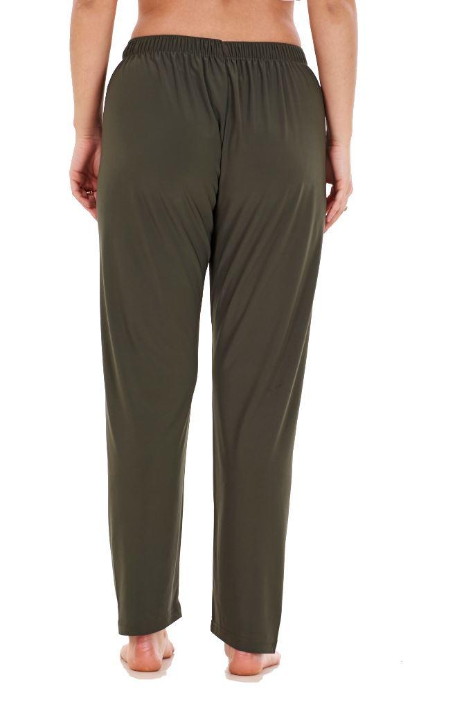 Ladies-Women-Trouser-Elasticated-Tapered-High-waist-ITY-Regular-Pants-Black thumbnail 17