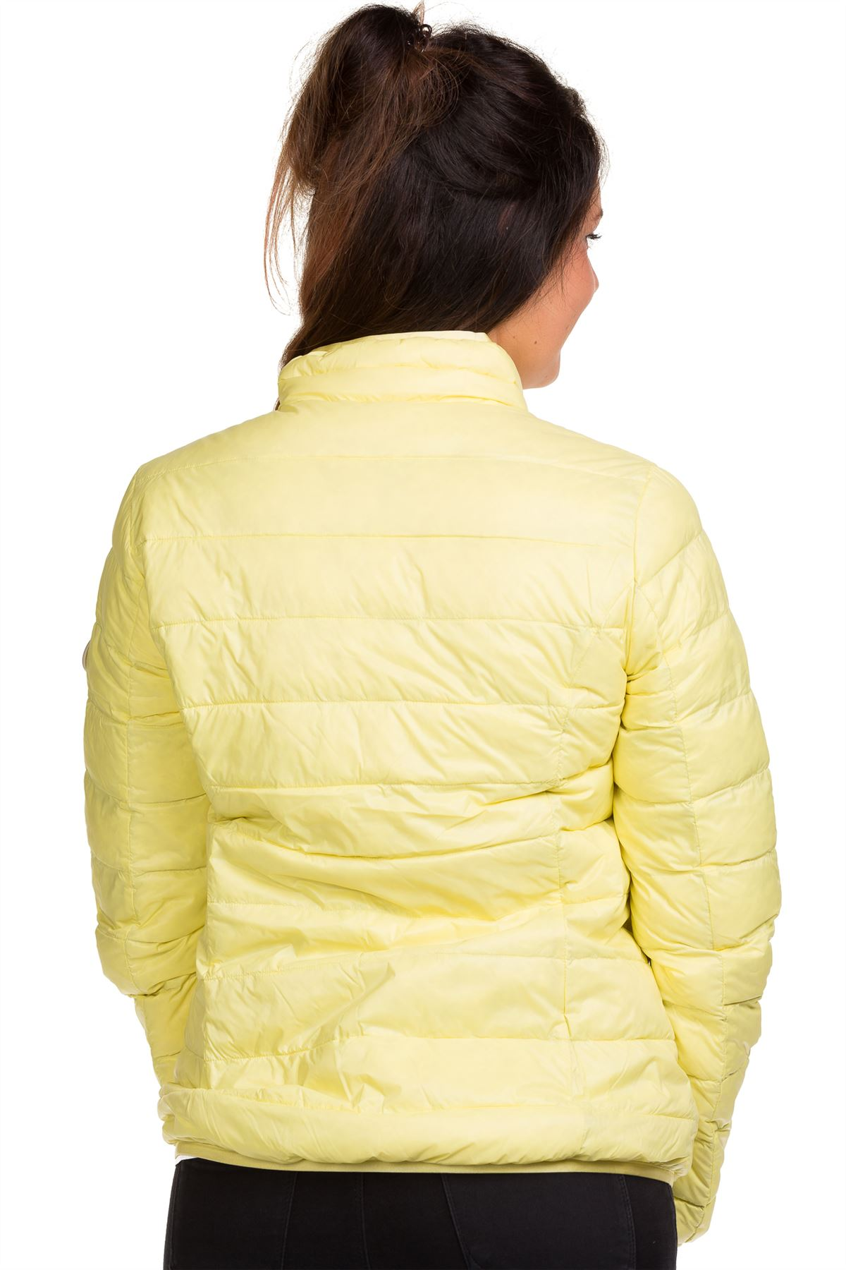 Ladies-Padded-Jacket-Down-Feather-Lining-Plain-Lightweight-Quilted-Floral-Coats thumbnail 14