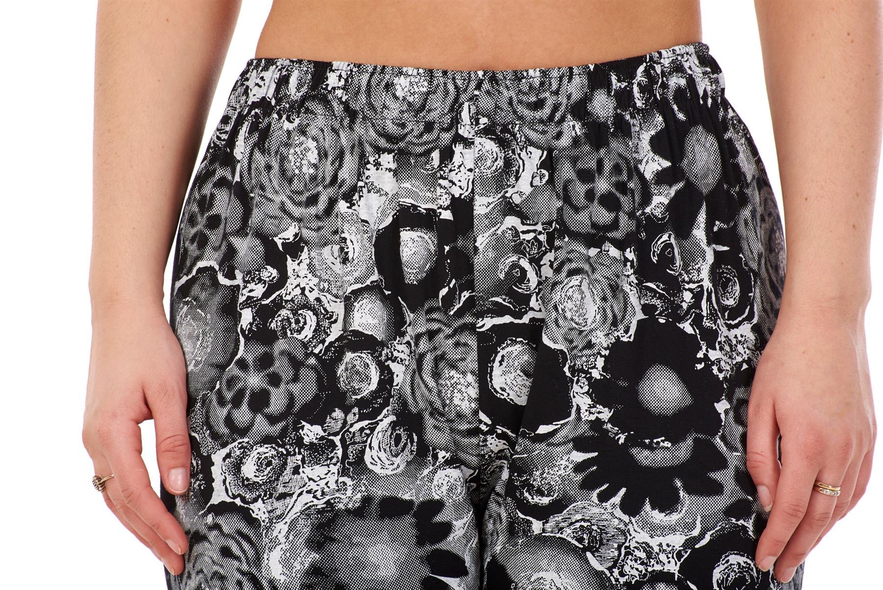 Ladies-Women-Trouser-Elasticated-Printed-Tapered-Harem-High-waist-Regular-Pants thumbnail 5