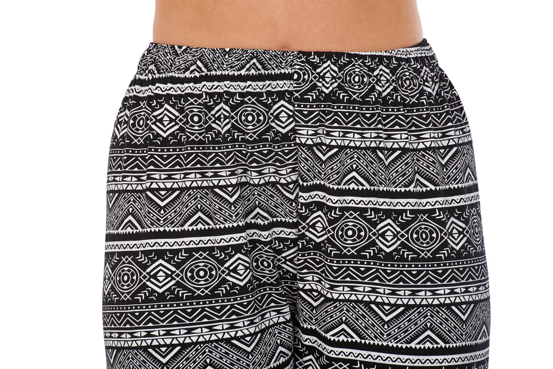 Ladies-Women-Trouser-Elasticated-Printed-Tapered-Harem-High-waist-Regular-Pants thumbnail 17