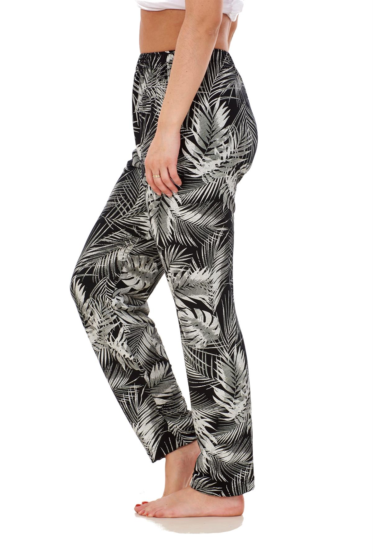 Ladies-Women-Trouser-Elasticated-Printed-Tapered-Harem-High-waist-Regular-Pants thumbnail 23