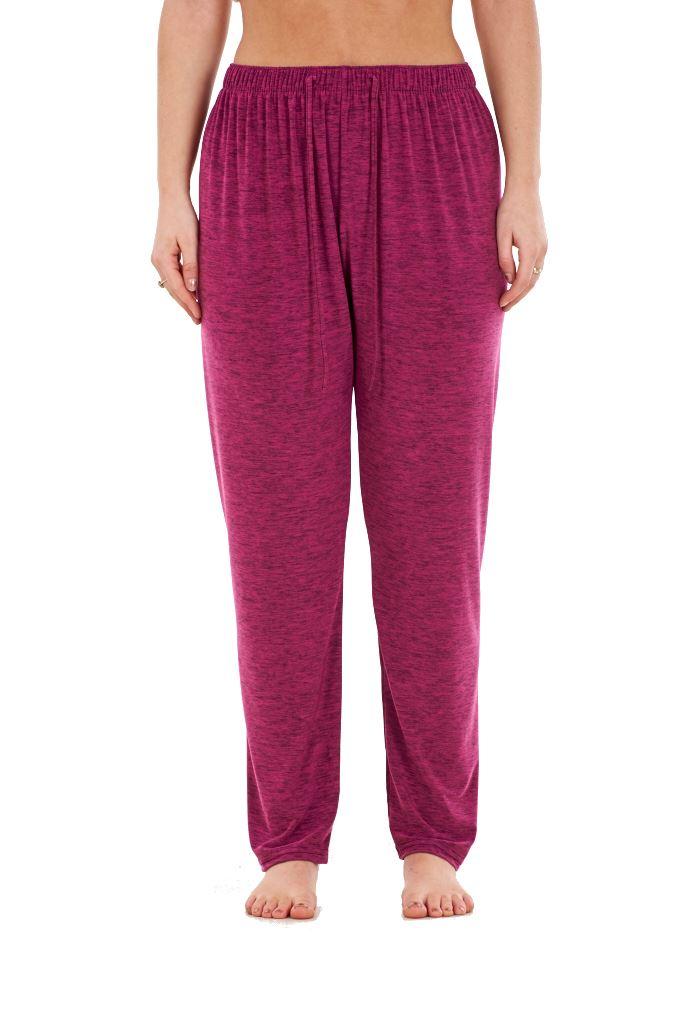 Ladies-Women-Trouser-Elasticated-Tapered-High-waist-ITY-Regular-Pants-Black thumbnail 27
