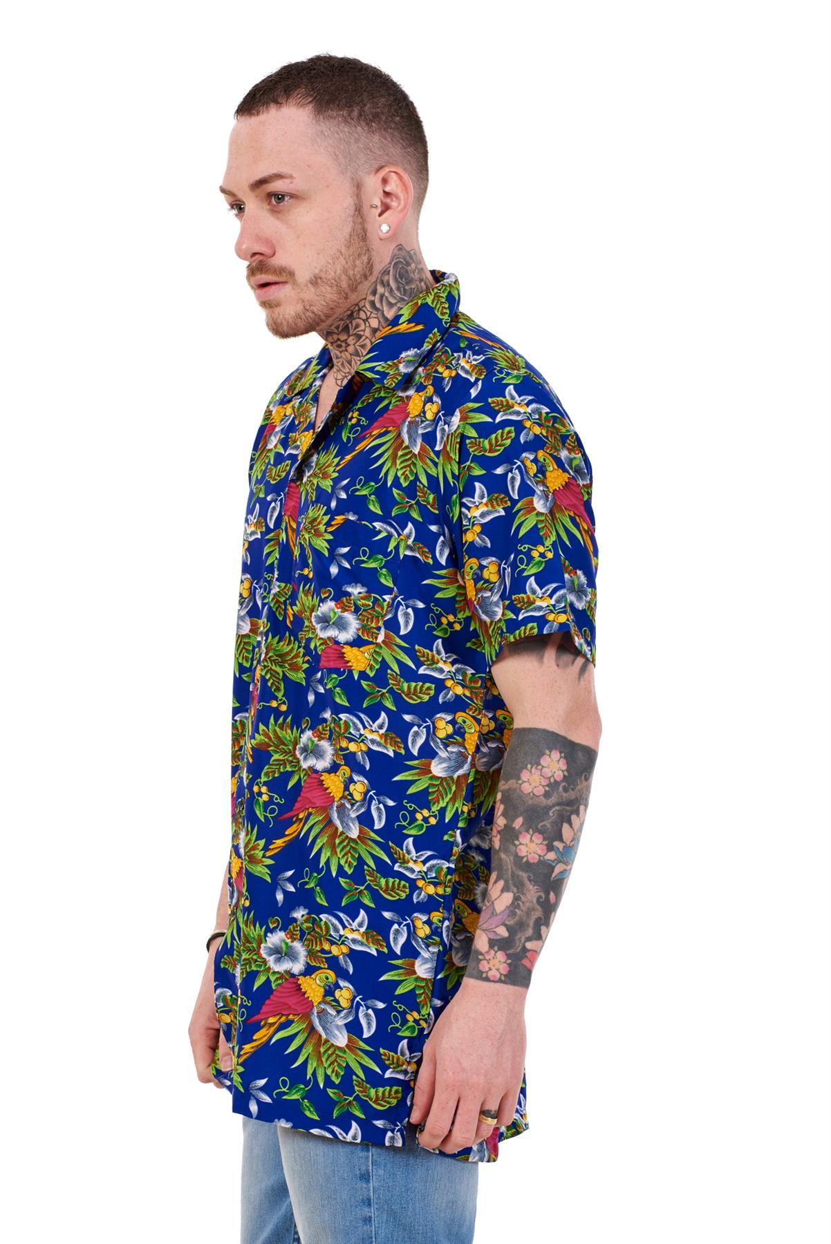 Mens-Hawaiian-Shirt-Multi-Colors-Print-Regular-Big-Size-Summer-Fancy-Dress-M-5XL thumbnail 18