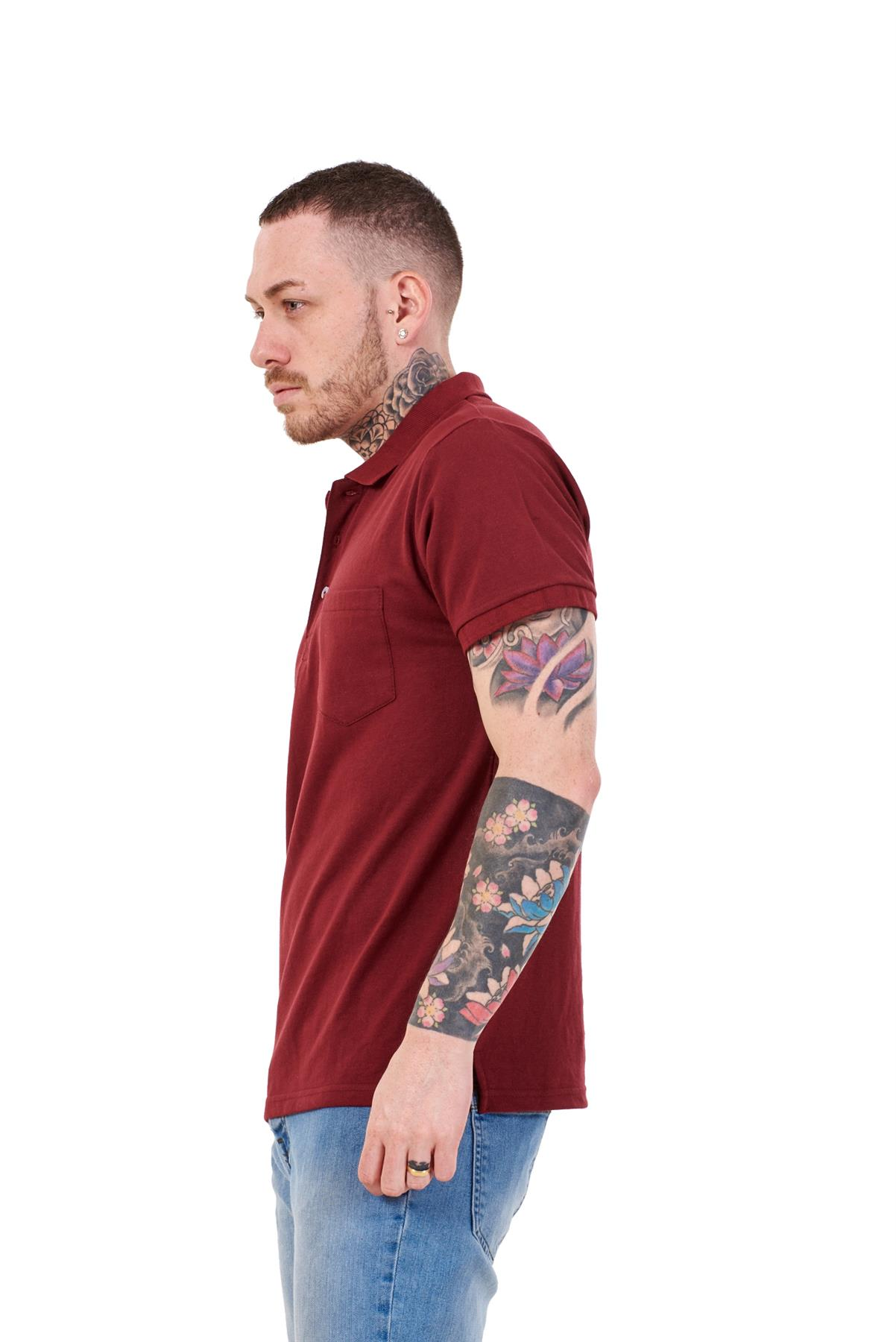 Mens-Cotton-T-Shirts-Regular-fit-Plain-Polo-Pocket-Casual-Formal-Shirt-Top-M-XXL thumbnail 8