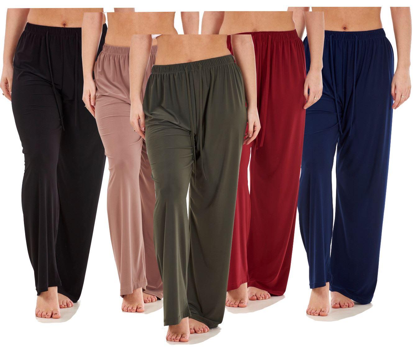 NUOVO DONNA WOMEN/'S ITY JERSEY Gamba Larga Pantaloni Casual UK S//M M//L XL 2XL 3XL