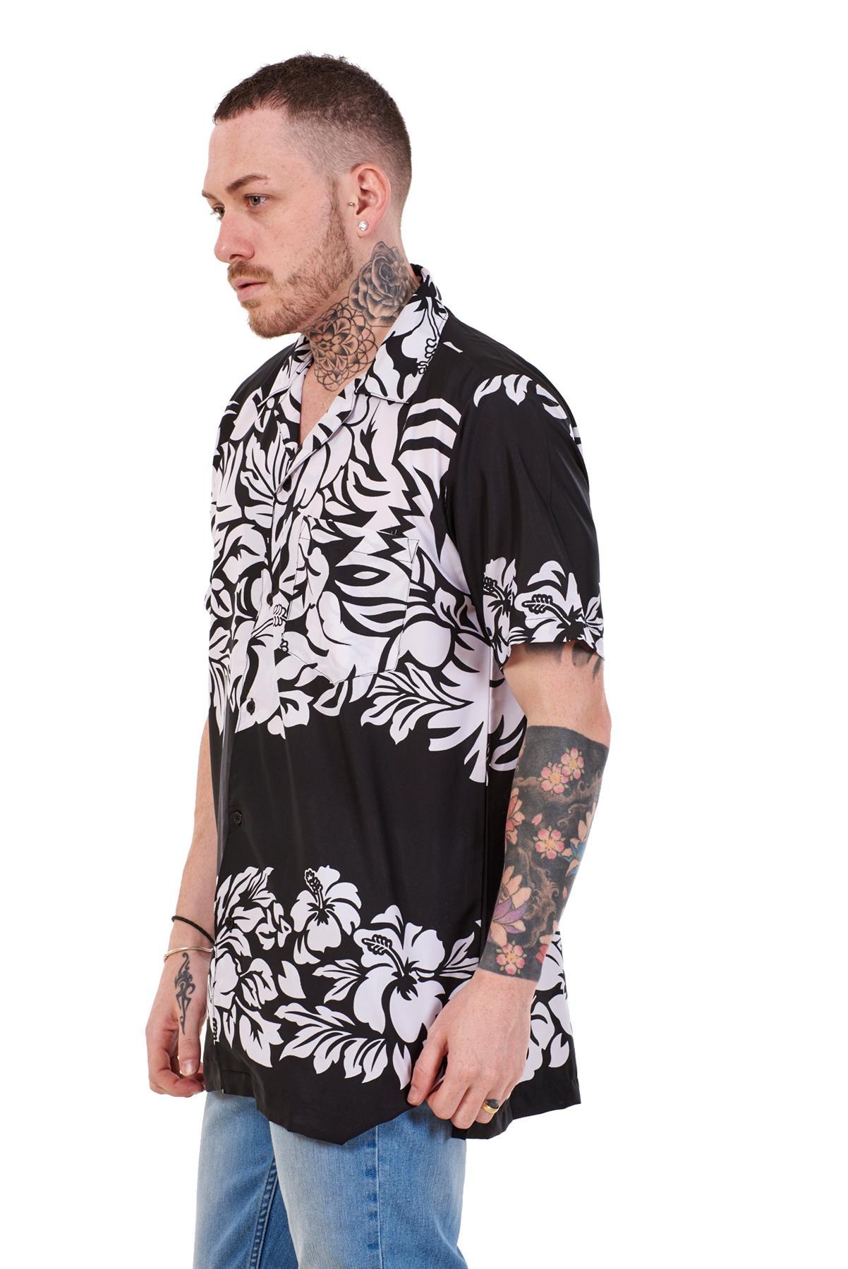 Mens-Hawaiian-Shirt-Multi-Colors-Print-Regular-Big-Size-Summer-Fancy-Dress-M-5XL thumbnail 4