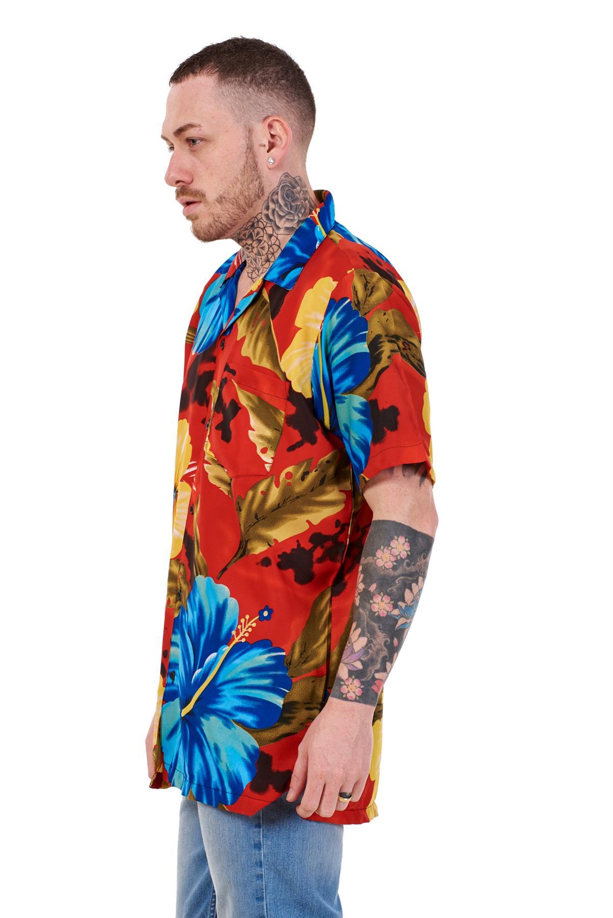 Mens-Hawaiian-Shirt-Multi-Colors-Print-Regular-Big-Size-Summer-Fancy-Dress-M-5XL thumbnail 36