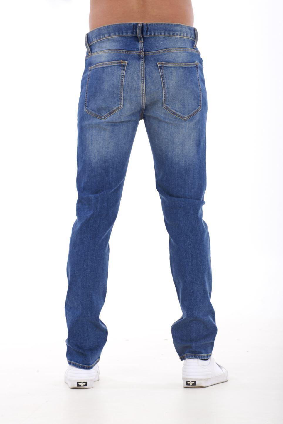 NUOVA-Linea-Uomo-Ragazzi-Slim-Fit-Stretch-Qualita-Jeans-Regolare-Pantaloni-con-marchio-SMART-30-40 miniatura 7