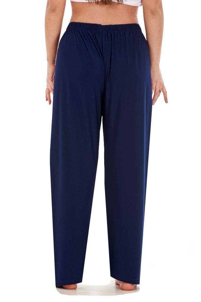 Ladies-Women-Trouser-Elasticated-Tapered-High-waist-ITY-Regular-Pants-Black thumbnail 21