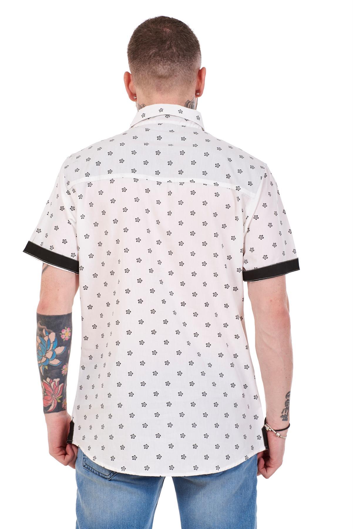 Mens-100-Cotton-Printed-Shirt-Short-Sleeve-Regular-Big-Size-Casual-Top-M-to-5XL thumbnail 20