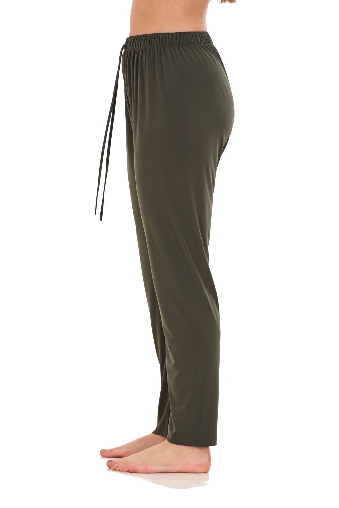 Ladies-Women-Trouser-Elasticated-Tapered-High-waist-ITY-Regular-Pants-Black thumbnail 16
