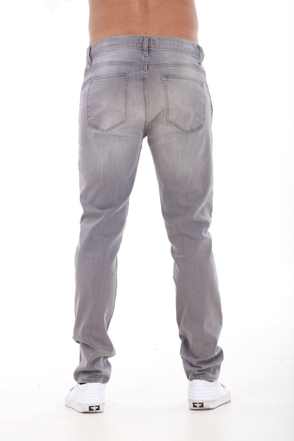 NUOVA-Linea-Uomo-Ragazzi-Slim-Fit-Stretch-Qualita-Jeans-Regolare-Pantaloni-con-marchio-SMART-30-40 miniatura 10