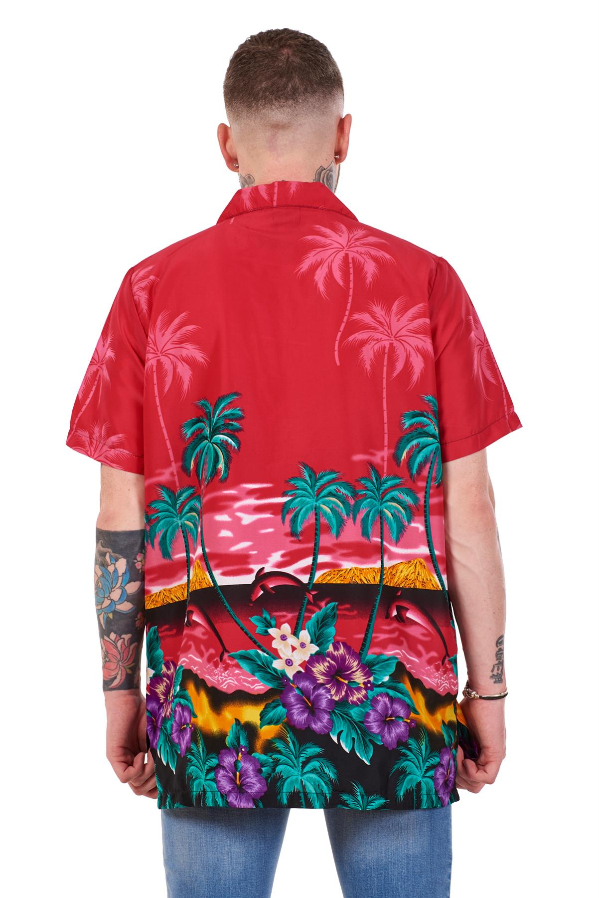 Mens-Hawaiian-Shirt-Multi-Colors-Print-Regular-Big-Size-Summer-Fancy-Dress-M-5XL thumbnail 15