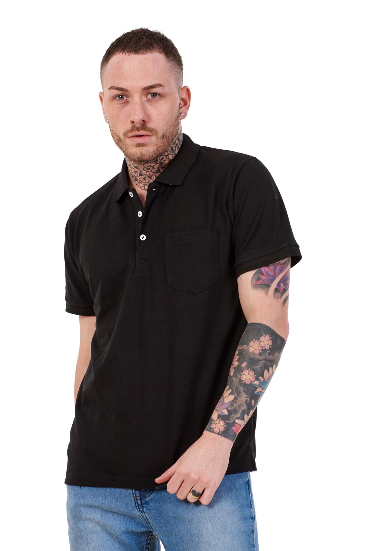 Mens-Cotton-T-Shirts-Regular-fit-Plain-Polo-Pocket-Casual-Formal-Shirt-Top-M-XXL thumbnail 3