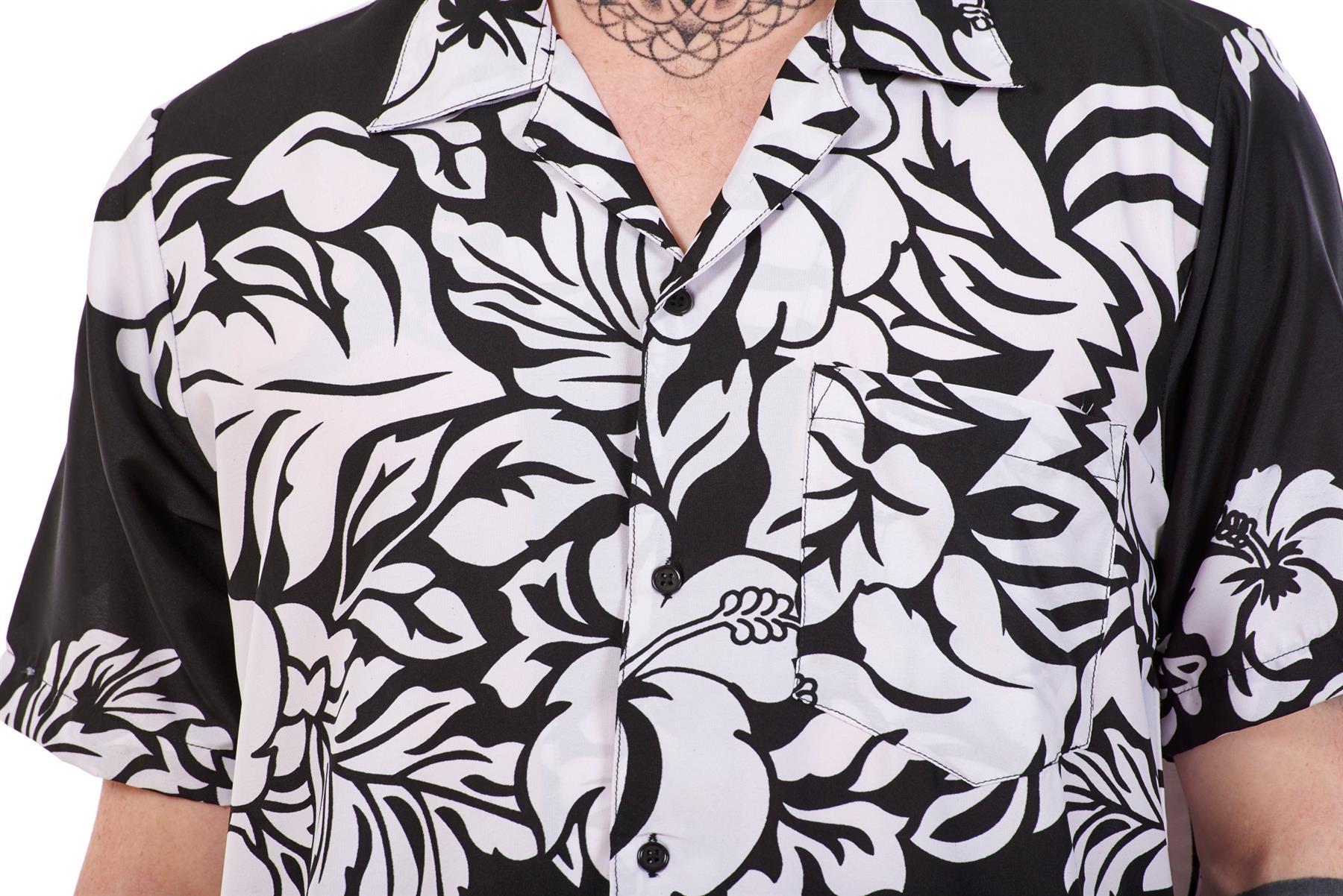 Mens-Hawaiian-Shirt-Multi-Colors-Print-Regular-Big-Size-Summer-Fancy-Dress-M-5XL thumbnail 6