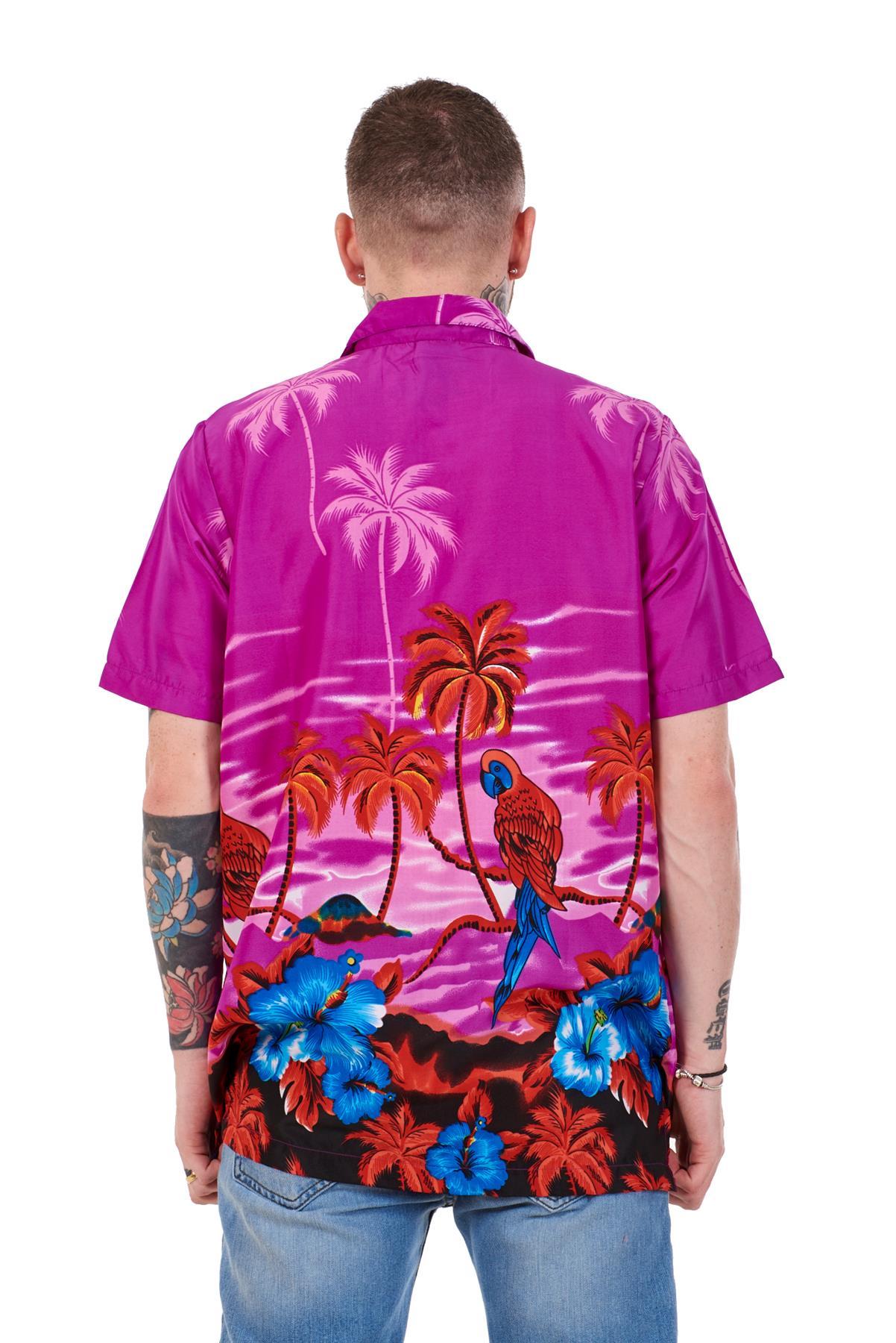 Mens-Hawaiian-Shirt-Multi-Colors-Print-Regular-Big-Size-Summer-Fancy-Dress-M-5XL thumbnail 32