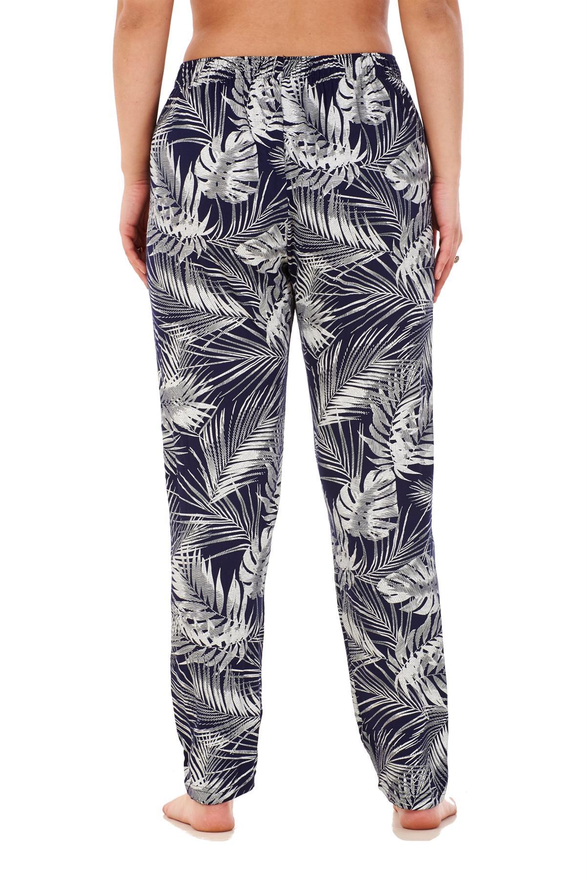 Ladies-Women-Trouser-Elasticated-Printed-Tapered-Harem-High-waist-Regular-Pants thumbnail 28