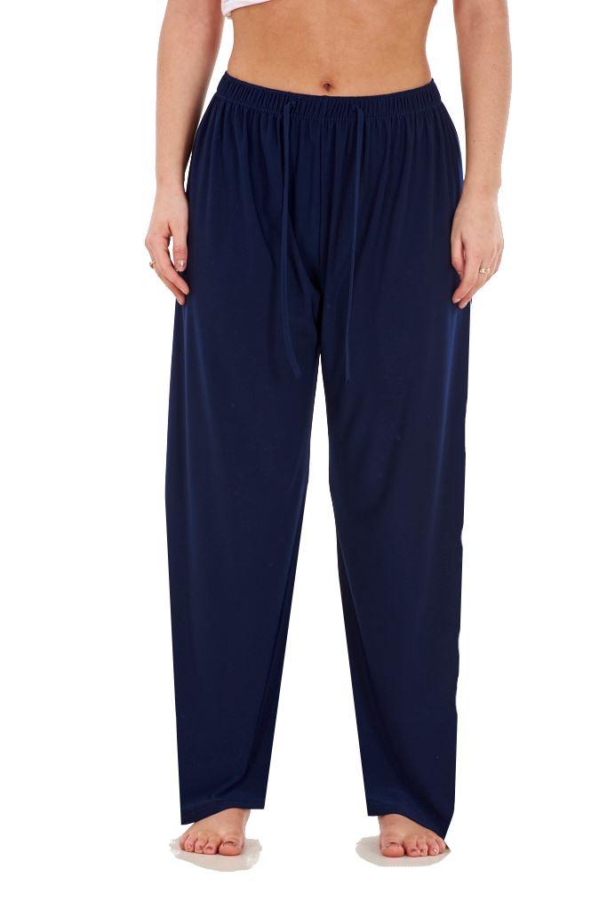 Ladies-Women-Trouser-Elasticated-Tapered-High-waist-ITY-Regular-Pants-Black thumbnail 19