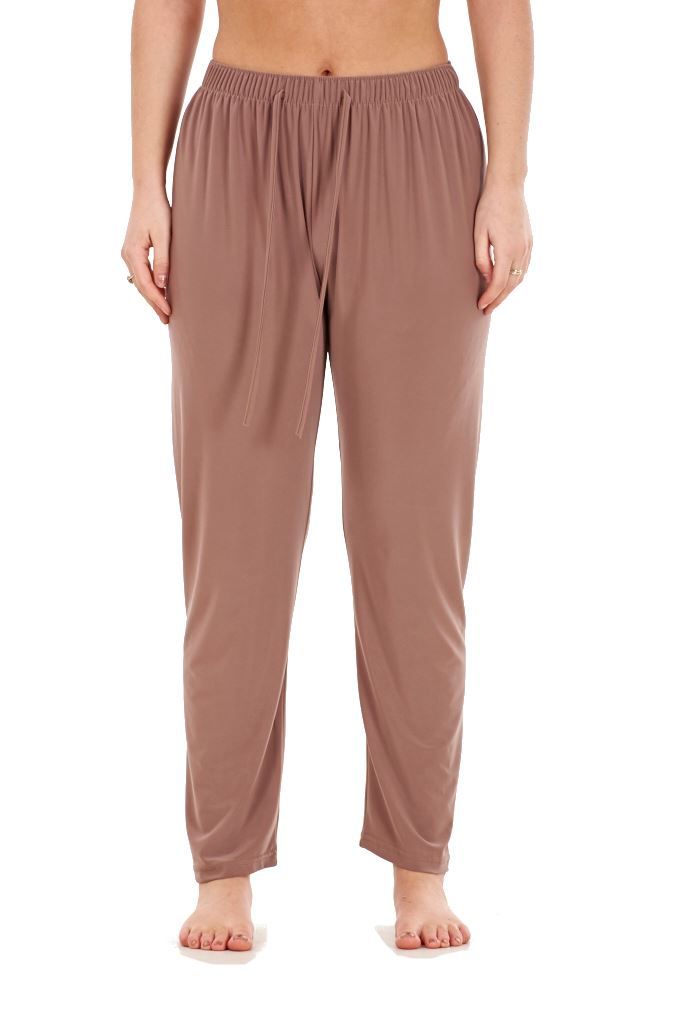 Ladies-Women-Trouser-Elasticated-Tapered-High-waist-ITY-Regular-Pants-Black thumbnail 3
