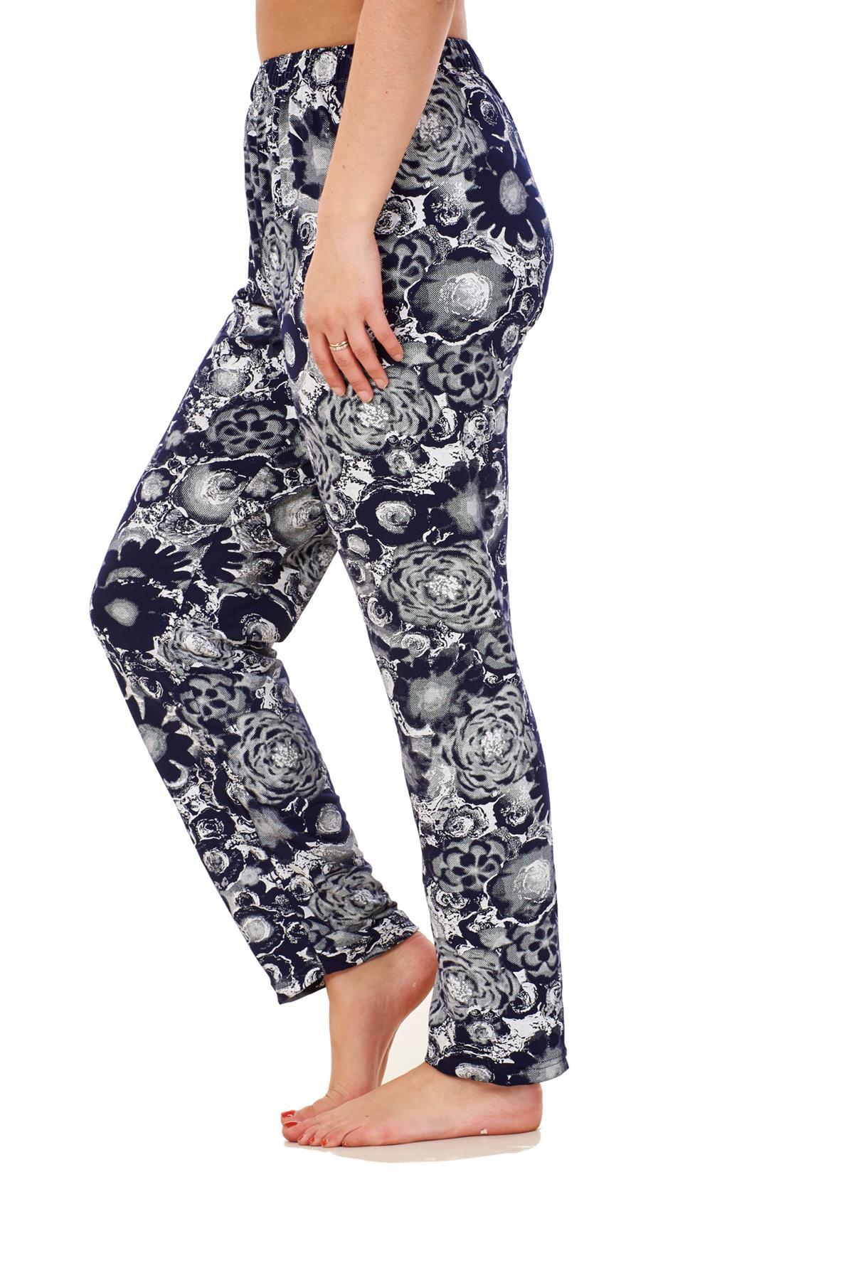 Ladies-Women-Trouser-Elasticated-Printed-Tapered-Harem-High-waist-Regular-Pants thumbnail 7