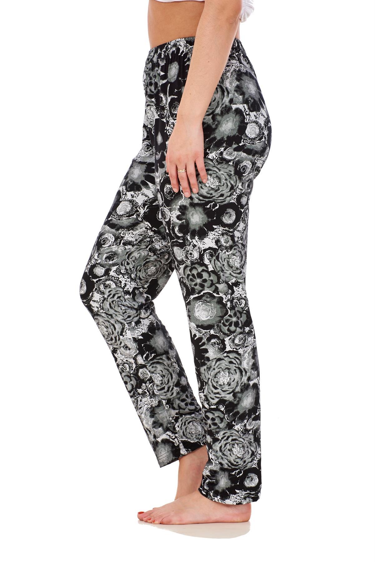 Ladies-Women-Trouser-Elasticated-Printed-Tapered-Harem-High-waist-Regular-Pants thumbnail 3